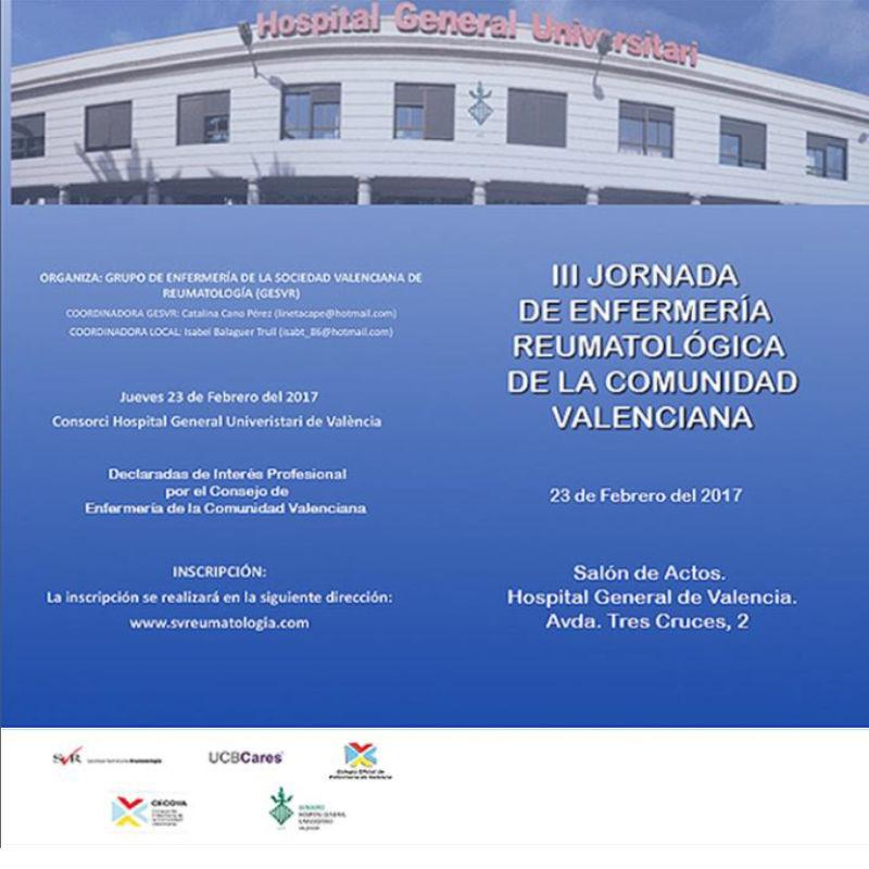 III Jornada de Enfermería de Reumatología de la Comunidad Valenciana