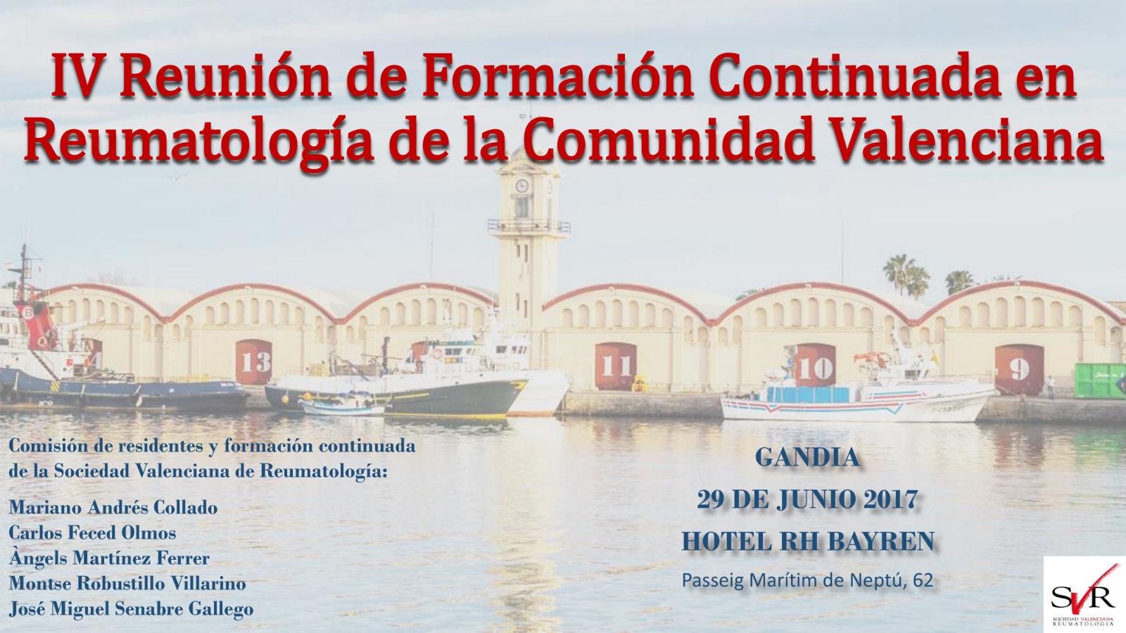 IV Reunión de Formación Continuada en Reumatología de la Comunidad Valenciana