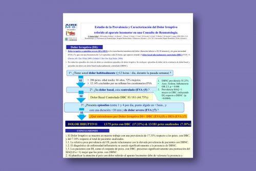 Estudio de la prevalencia y caracterización del dolor irruptivo referido al aparato locomotor en una consulta de Reumatología