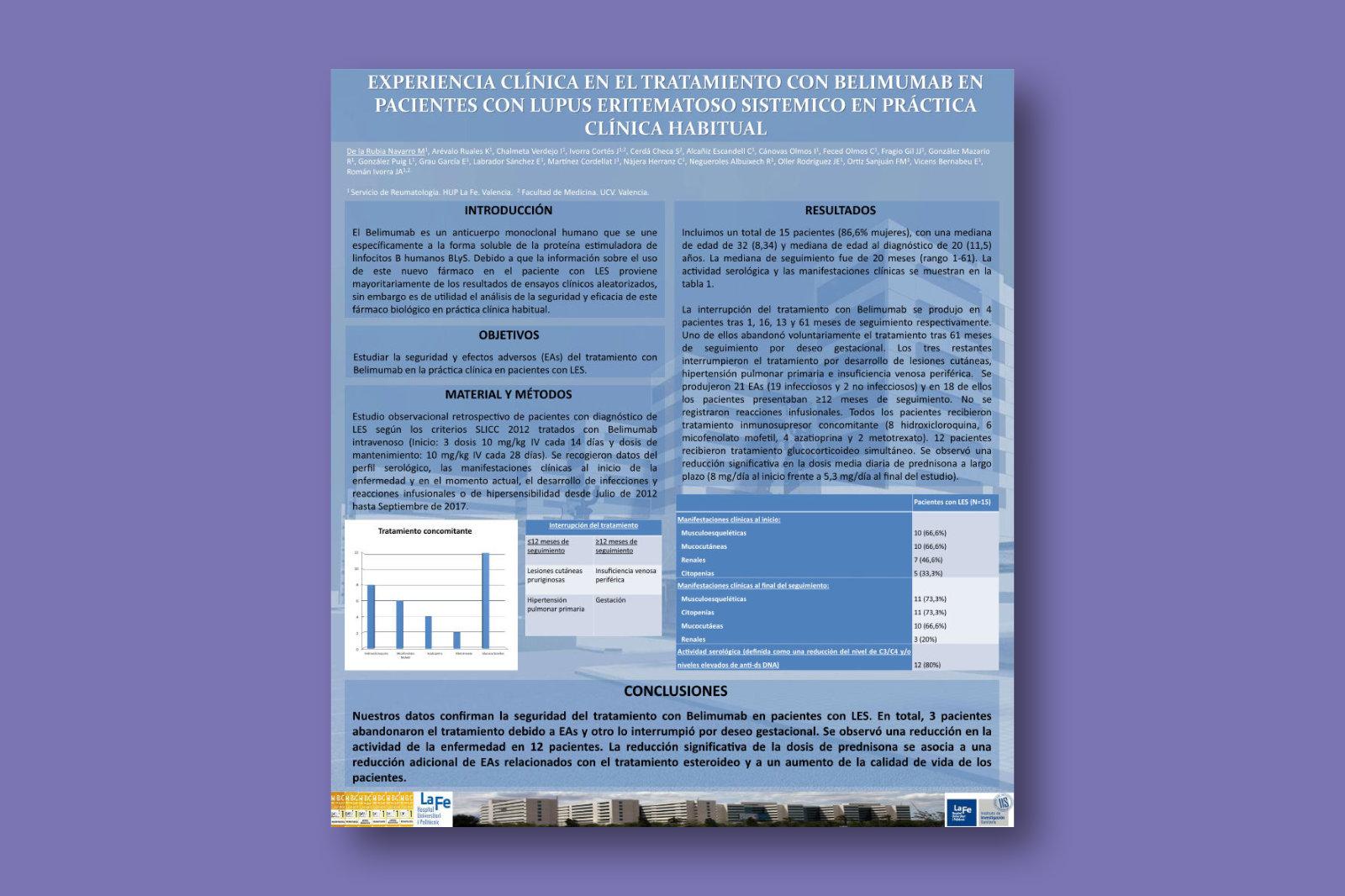 Experiencia clínica en el tratamiento con Belimumab en pacientes con Lupus Eritematoso Sistemico en práctica clínica habitual