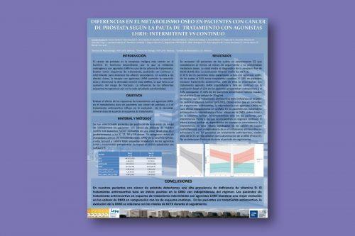 Diferencias en el metabolismo óseo en pacientes con cáncer de próstata según la pauta de tratamiento con agonistas LHRH: intermitente vs contínuo