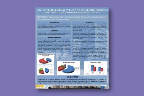 Eficacia de Secukinumab en pacientes con Artritis Psoriásica y Espondilitis Anquilosante en práctica clínica