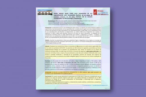 Uveítis Anterior Aguda (UAA) como presentación de una Espondiloartritis Axial Desconocida (ESPAAX), en un grupo de pacientes mayores de 45 años. Ventajas de la consulta multidisciplinar de Reumatología y Oftalmología