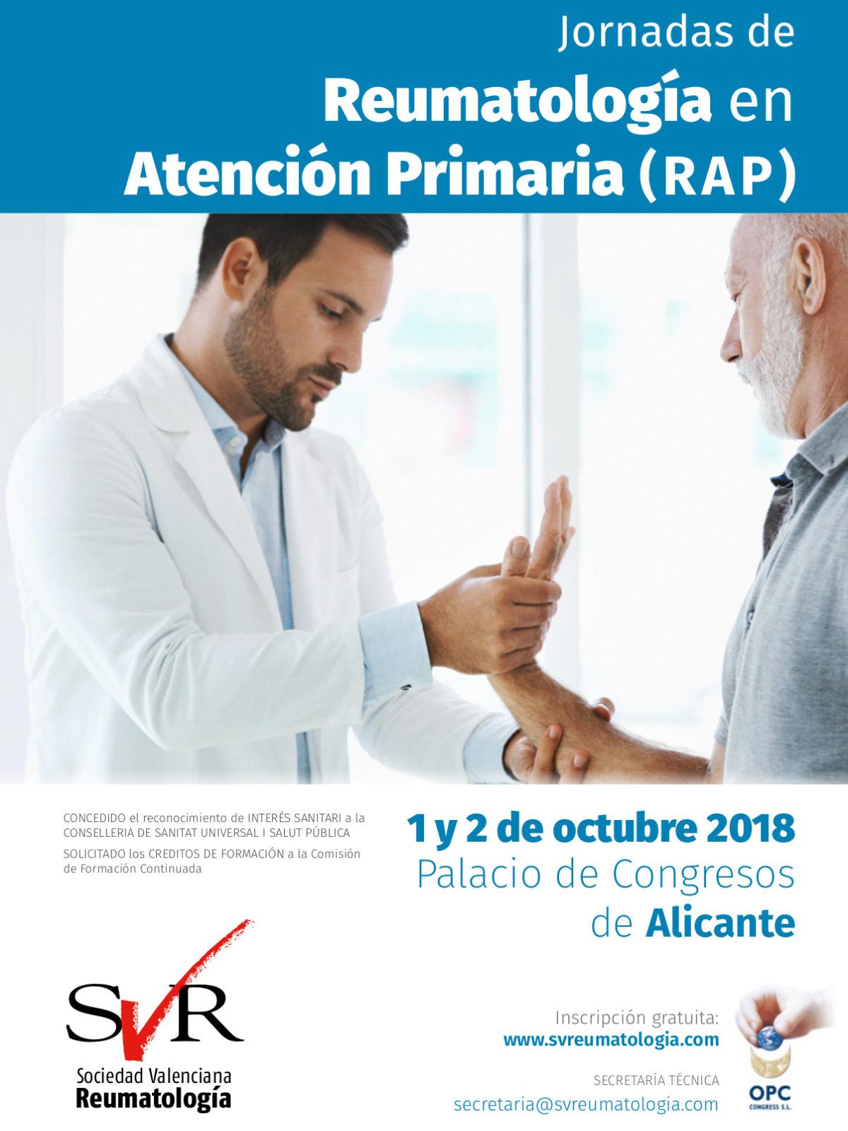 Jornadas de Reumatología en Atención Primaria (RAP) 2018