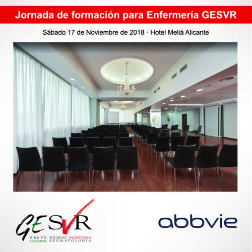 Jornada de formación para Enfermería organizada por GESVR