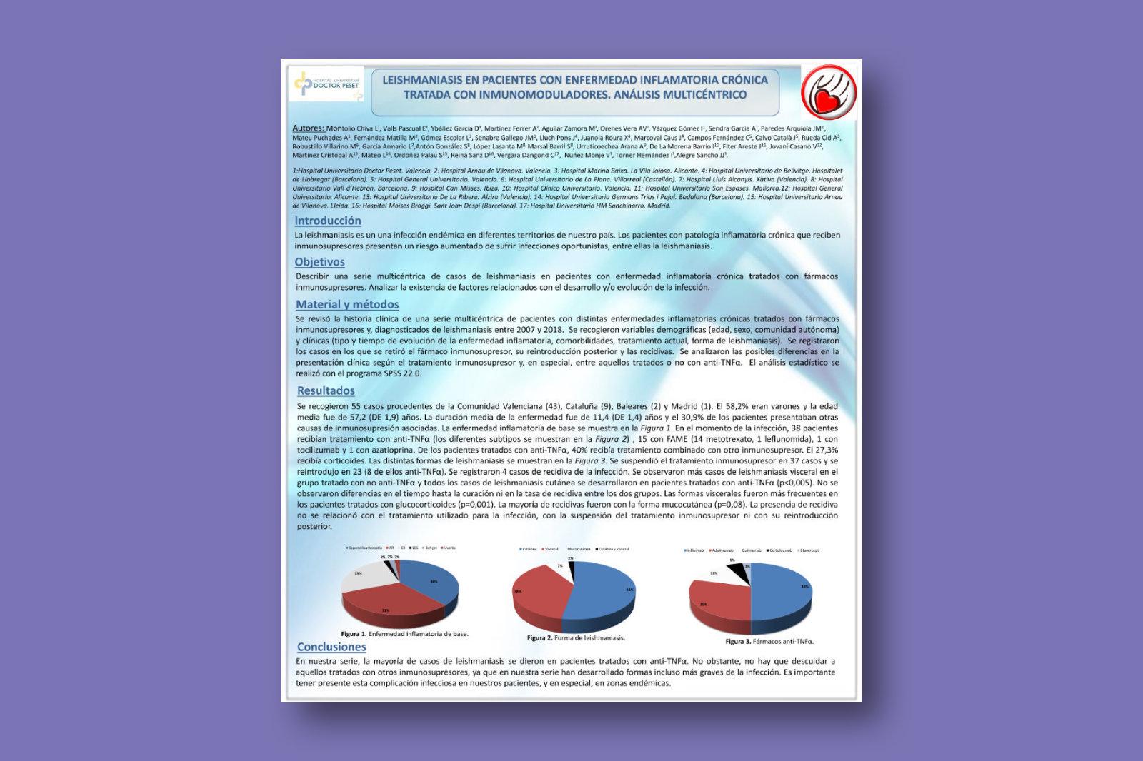 Leishmaniasis en pacientes con enfermedad inflamatoria crónica tratada con inmunomoduladores. Análisis multicéntrico
