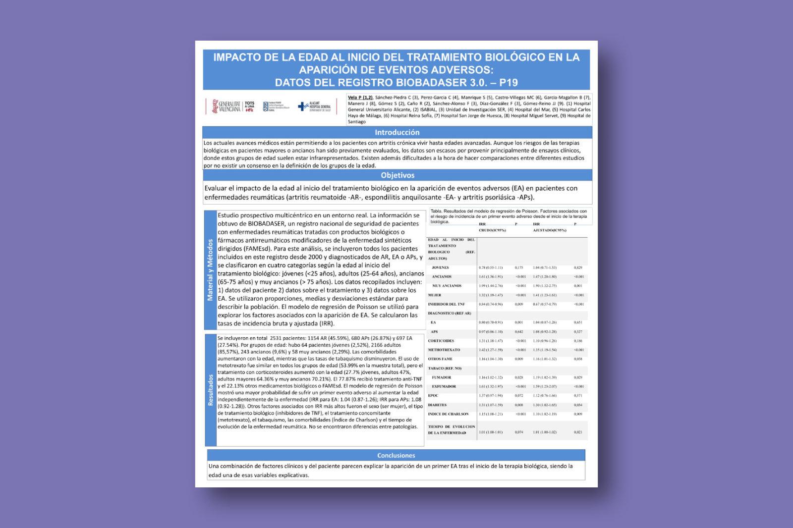 Impacto de la edad al inicio del tratamiento biológico en la aparición de eventos adversos: datos del registro BIOBADASER 3.0