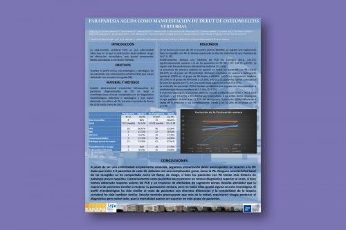 Paraparesia aguda como manifestación de debut de osteomielitis vertebral