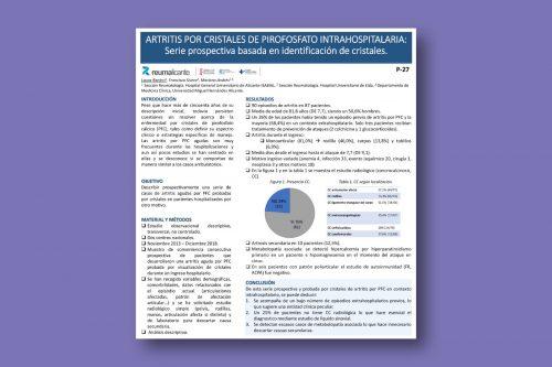 Artritis por cristales de pirofosfato intrahospitalaria: serie prospectiva basada en identificación de cristales