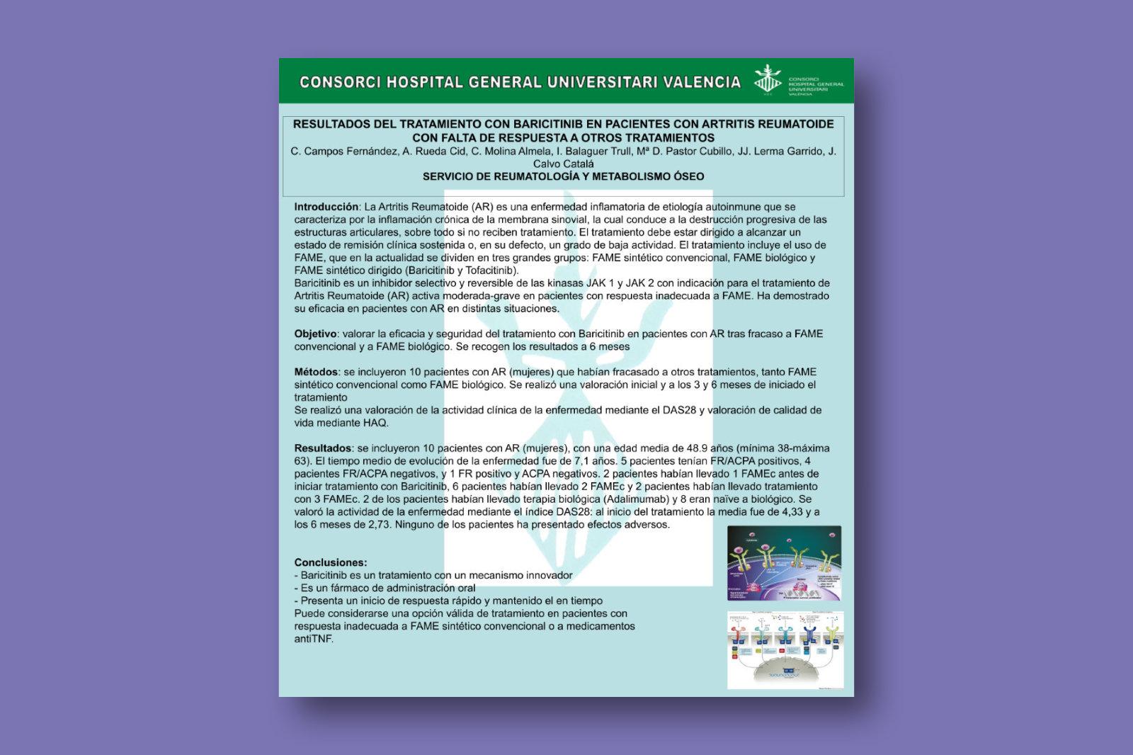 Resultados del tratamiento con baricitinib en pacientes con artritis reumatoide con falta de respuesta a otros tratamientos