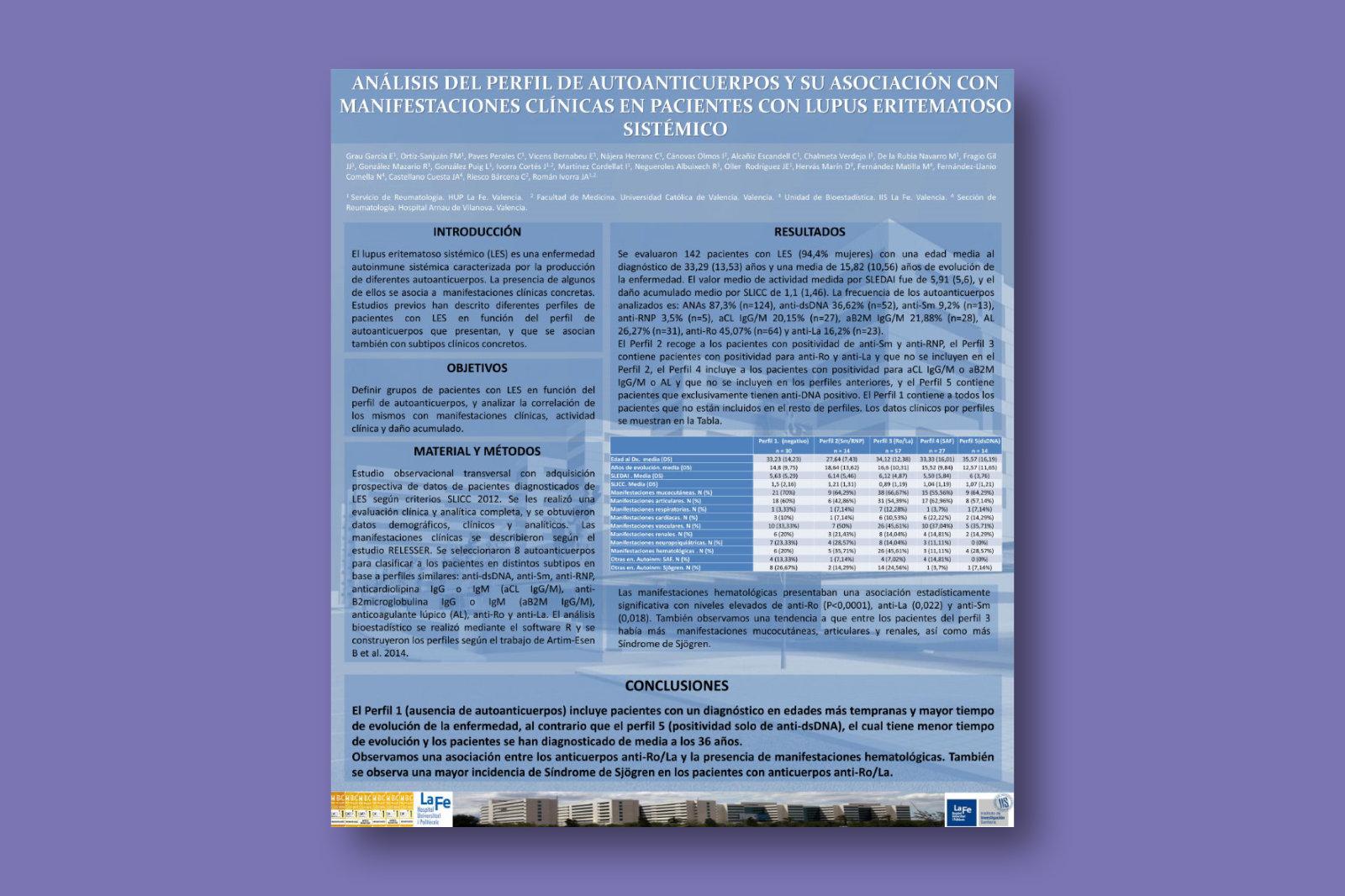 Análisis del perfil de autoanticuerpos y su asociación con manifestaciones clínicas en pacientes con lupus eritematoso sistémico