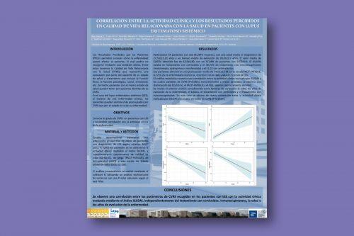 Correlación entre la actividad clínica y los resultados percibidos en calidad de vida relacionada con la salud en pacientes con lupus eritematoso sistémico