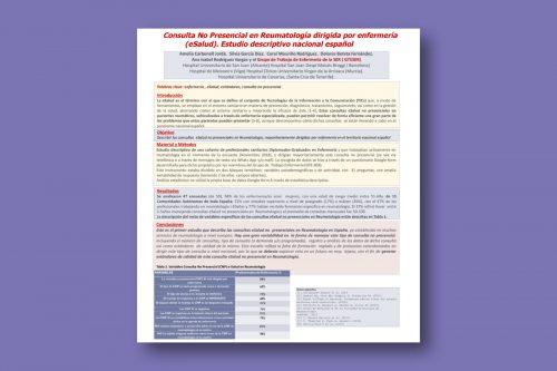 Consulta no presencial en reumatología dirigida por enfermería (eSalud). Estudio descriptivo nacional español