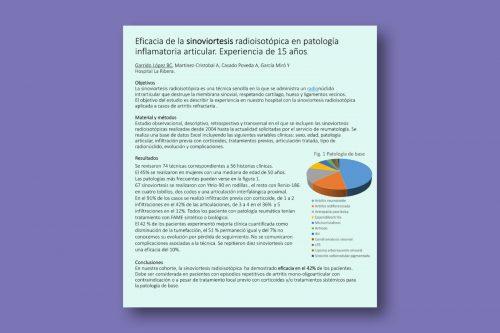 Eficacia de la sinoviortesis radioisotópica en patología inflamatoria articular. Experiencia de 15 años