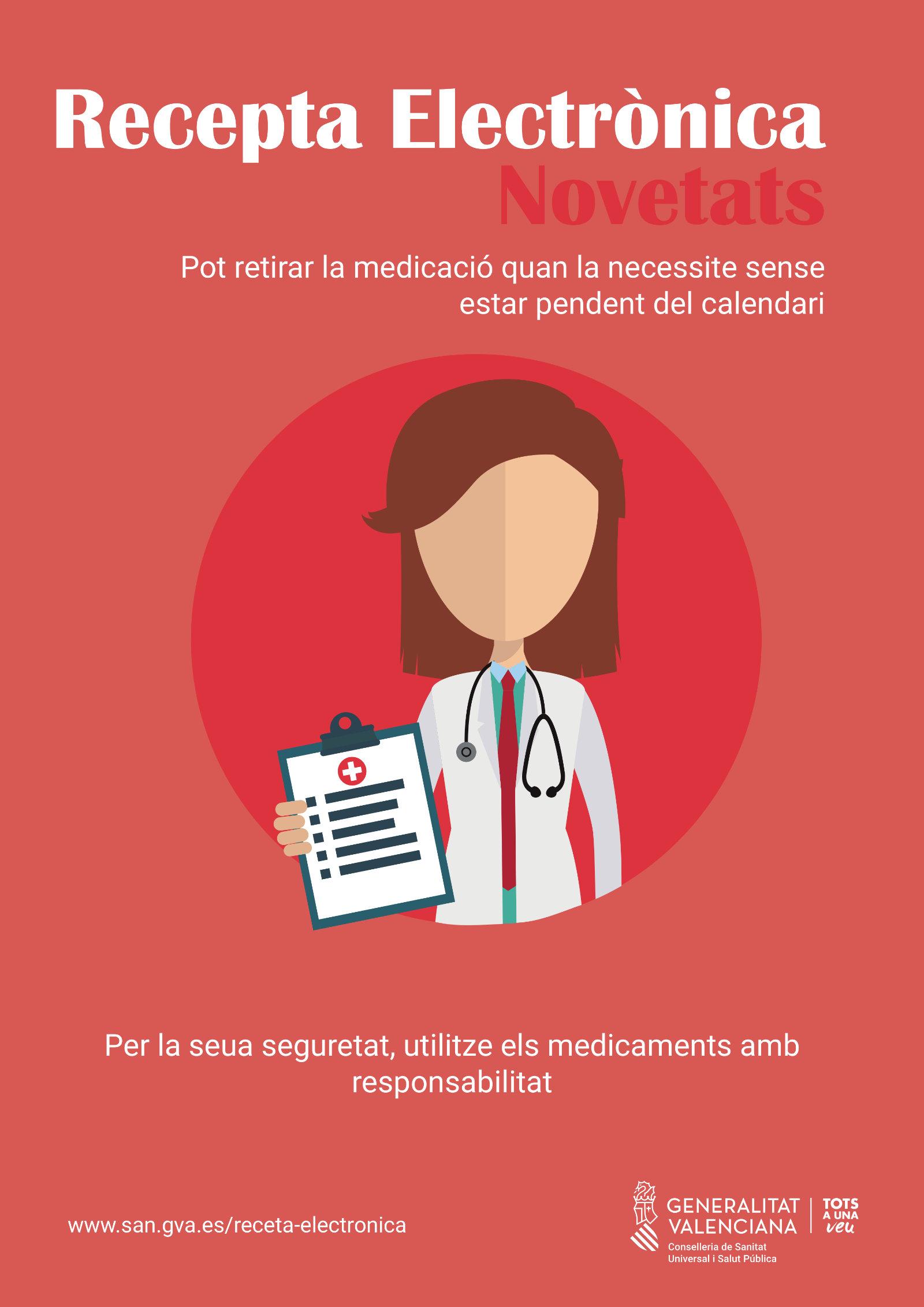 Novedades en receta electrónica: podrá retirar la medicación cuando la necesite sin estar pendiente del calendario