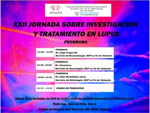 XXII Jornada sobre investigación y tratamiento en Lupus