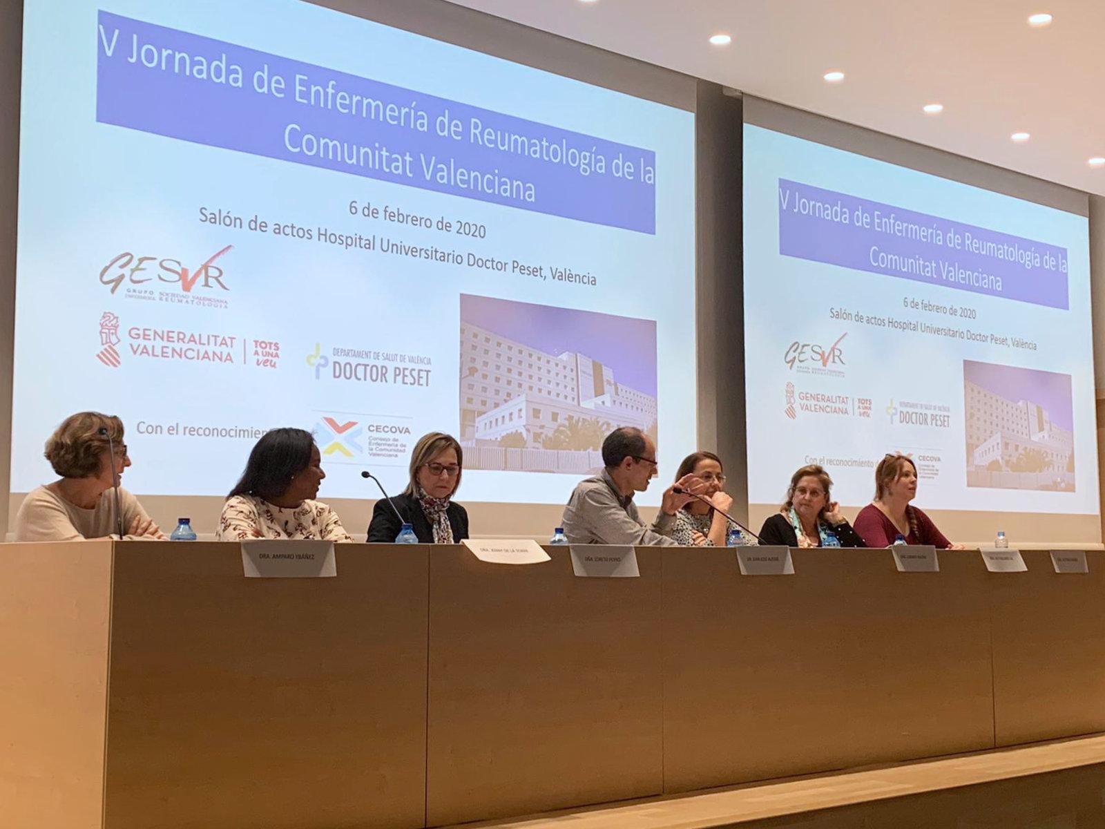 Gran acogida de la V Jornada de Enfermería Reumatológica de la Comunidad Valenciana