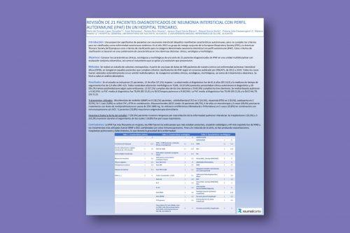 Revisión de 21 pacientes diagnosticados de neumonía intersticial con perfil autoinmune (IPAF) en un hospital terciario
