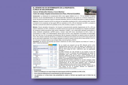 El género no es determinante en la respuesta clínica de secukinumab