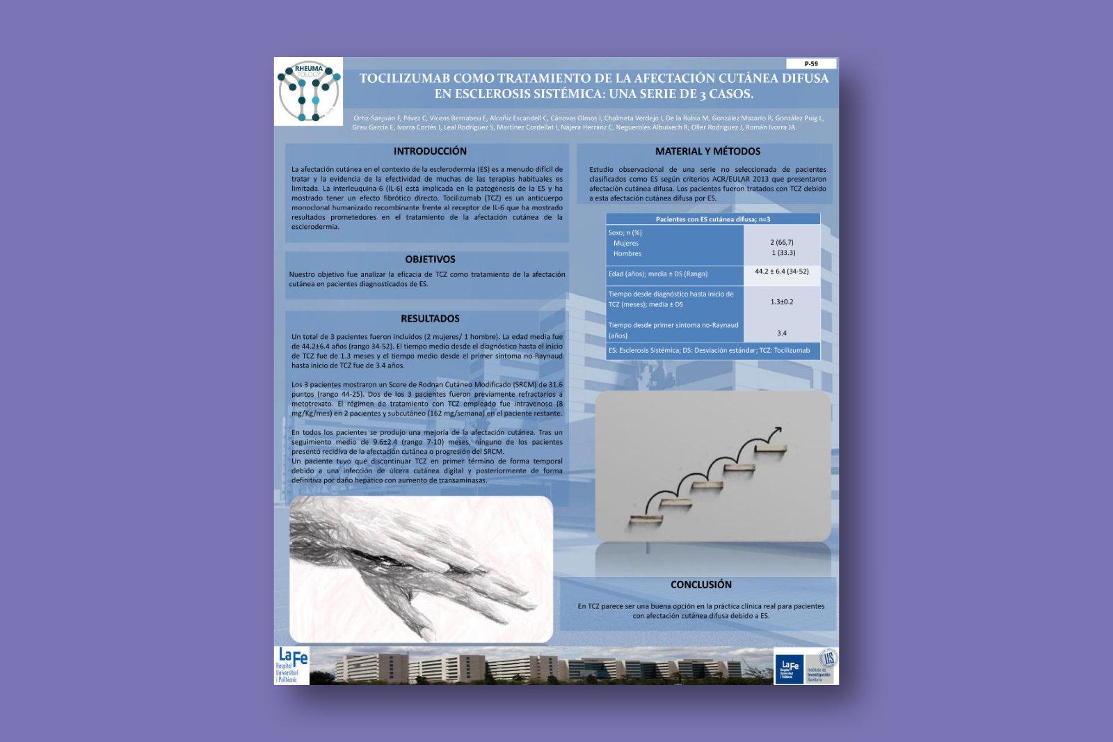 Tocilizumab como tratamiento de la afectación cutánea difusa en esclerosis sistémica: una serie de 3 casos
