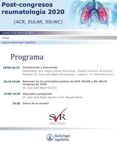 Post-congresos reumatología 2020 (ACR, EULAR, SScWC)