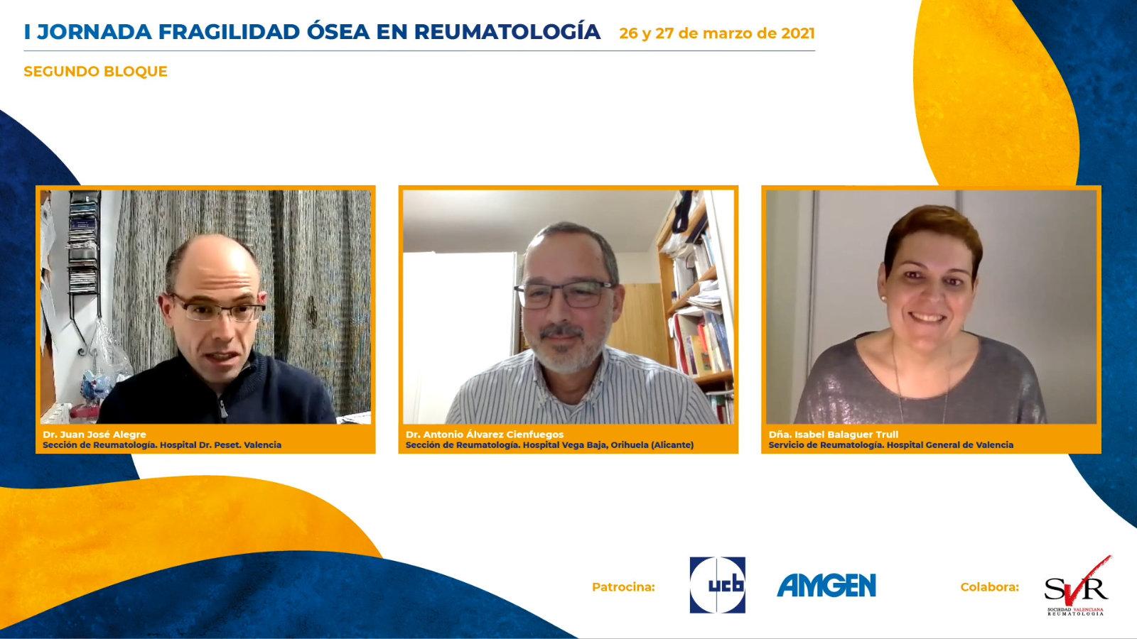 I Jornada Fragilidad Ósea en Reumatología 2021: Segundo bloque