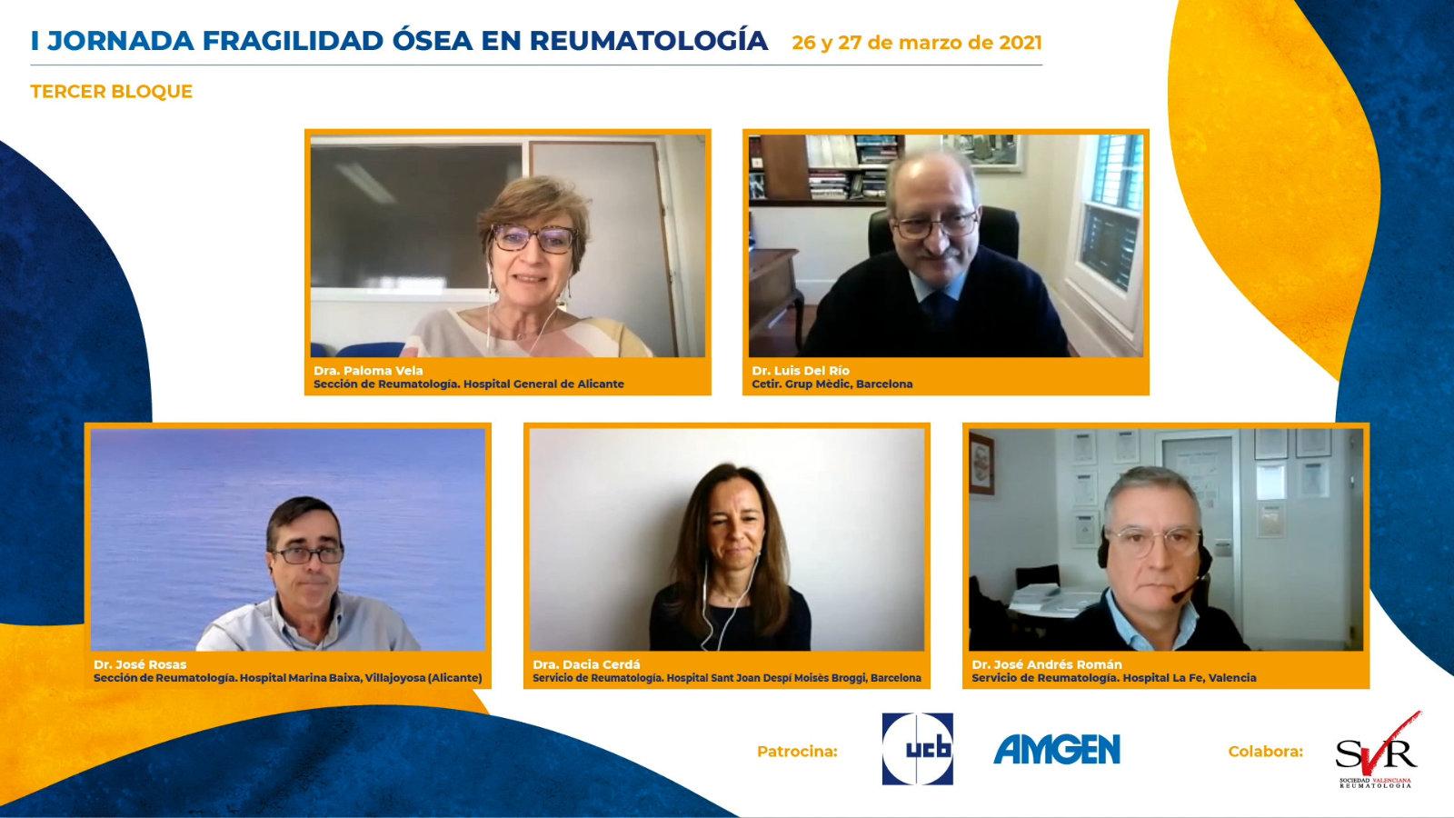 I Jornada Fragilidad Ósea en Reumatología 2021: Tercer bloque