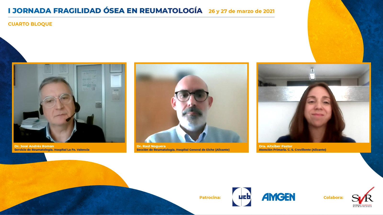 I Jornada Fragilidad Ósea en Reumatología 2021: Cuarto bloque