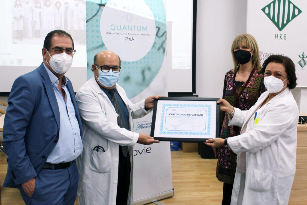 El Hospital General de Valencia recibe el reconocimiento de excelencia en la atención a personas con artritis psoriásica
